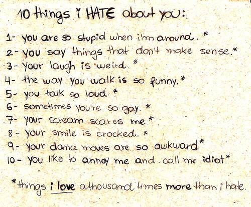 10 Things I Hate About You…